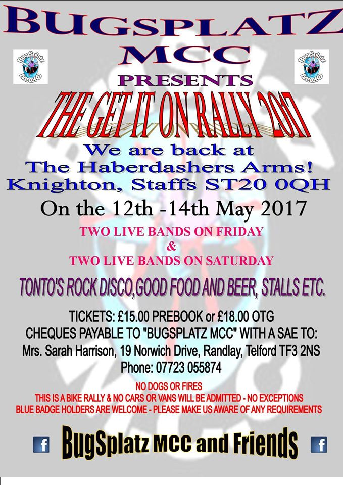 The Get it on Rally 2017 flyer