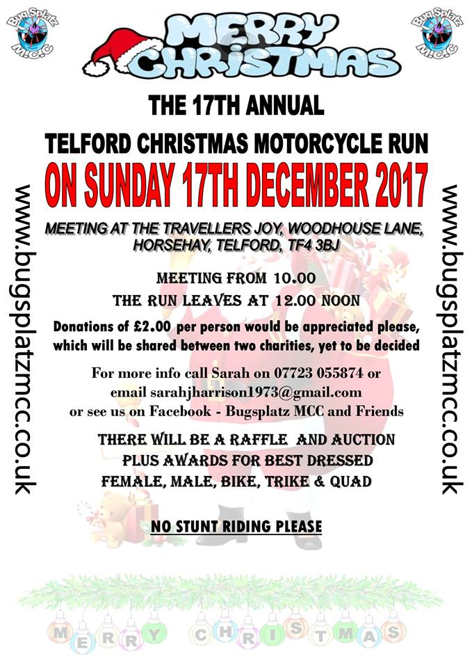 Bugsplatz MCC Christmas Run 2017 Flyer